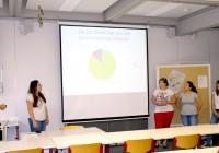 Schüler der Klasse 1FHR präsentieren ihre Umfrageergebnisse